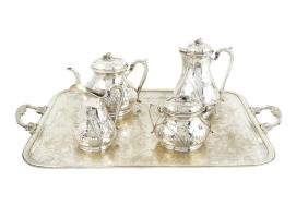 A 950 silver coffee and tea service France, 19th