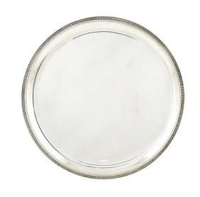 An 800 silver circular tray Italy, 20th century d. 37