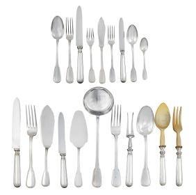 A silver cutlery service (233) Alessandria, 20th