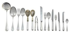 An 800 silver cutlery service (81) Alessandria, 20th