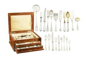An 800 silver cutlery service (136) Italy, 20th century