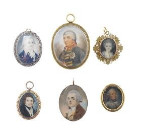 Six miniated portraits European manufacture misure ed