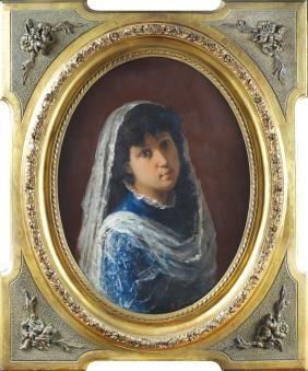 E. Flores late 19th-early 20th century 60x45 cm.