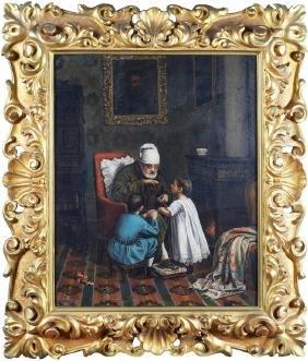French painter 19th century 50x40 cm.