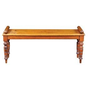 A mahogany bench Great Britain, antique manufacture