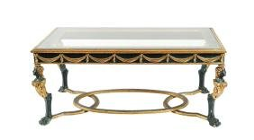 A lacquered and giltwood table France, antique