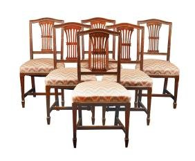 Six mohagany chairs Great Britain, antique manufacture