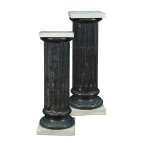 A pair of italian marble columns 20th century 98X33X33