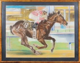 Unknown artist 20th century 53,5x70 cm.