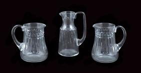 Three Baccarat crystal decanters France, 20th century