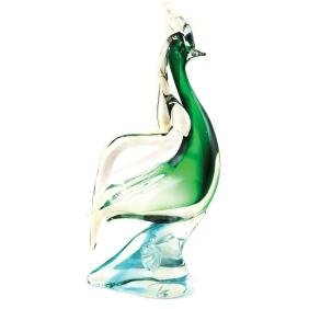 A Sommerso glass sculpture Murano, 20th century h. 33
