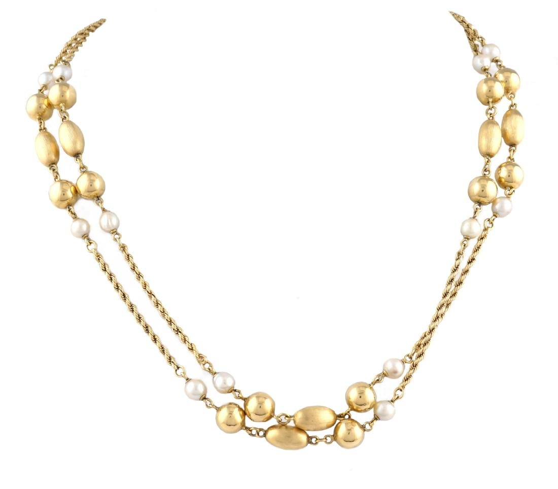 An 18kt gold necklace 1950-60s peso 69,2 gr.