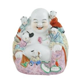 A polychromatic porcelain sculpture China, 20th century