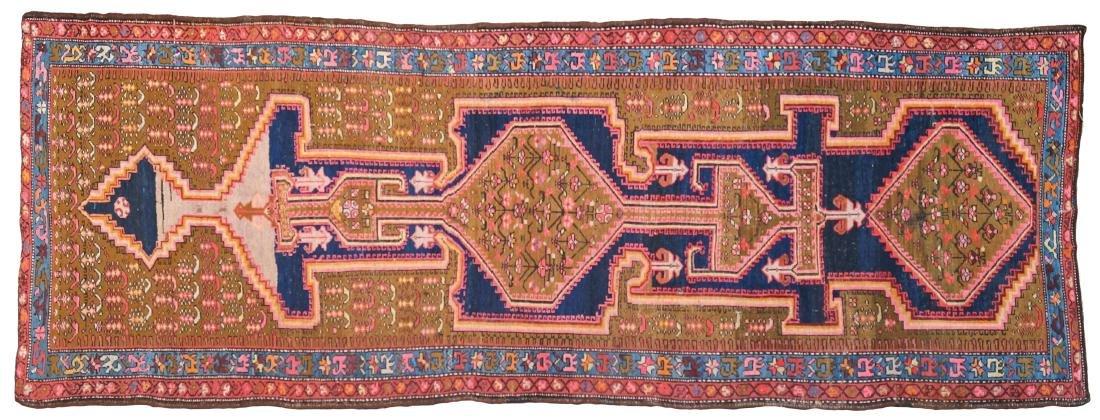A Caucasian carpet antique manufacture 403x146 cm.