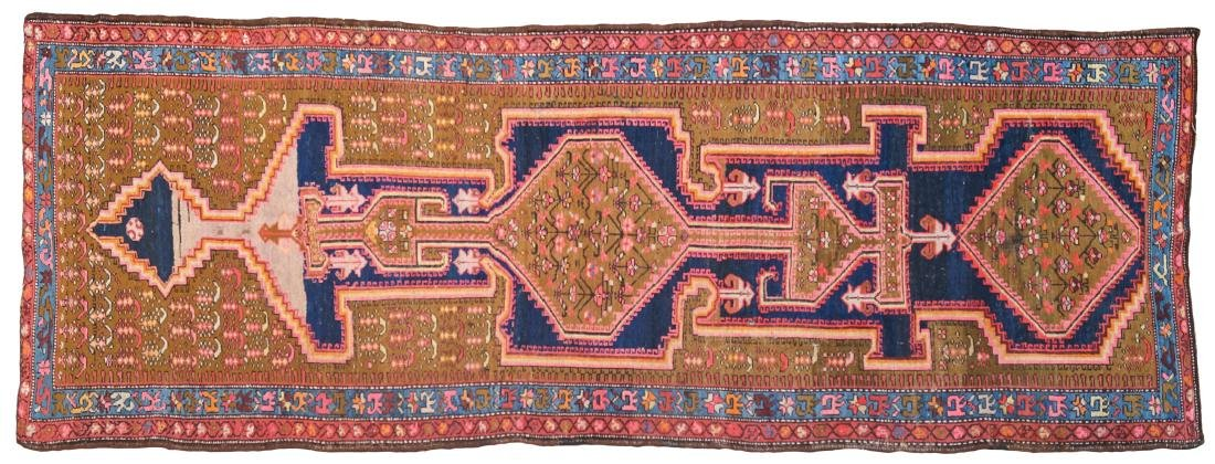 A Caucasian carpet antique manufacture 403x146 cm.