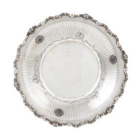 A silver centerpiece Milan, half of 20th century peso