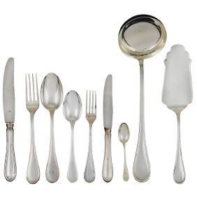 A silver cutlery service (68) Italy, 20th century peso