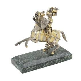 A silver and vermeil sculpture Italy, 20th century