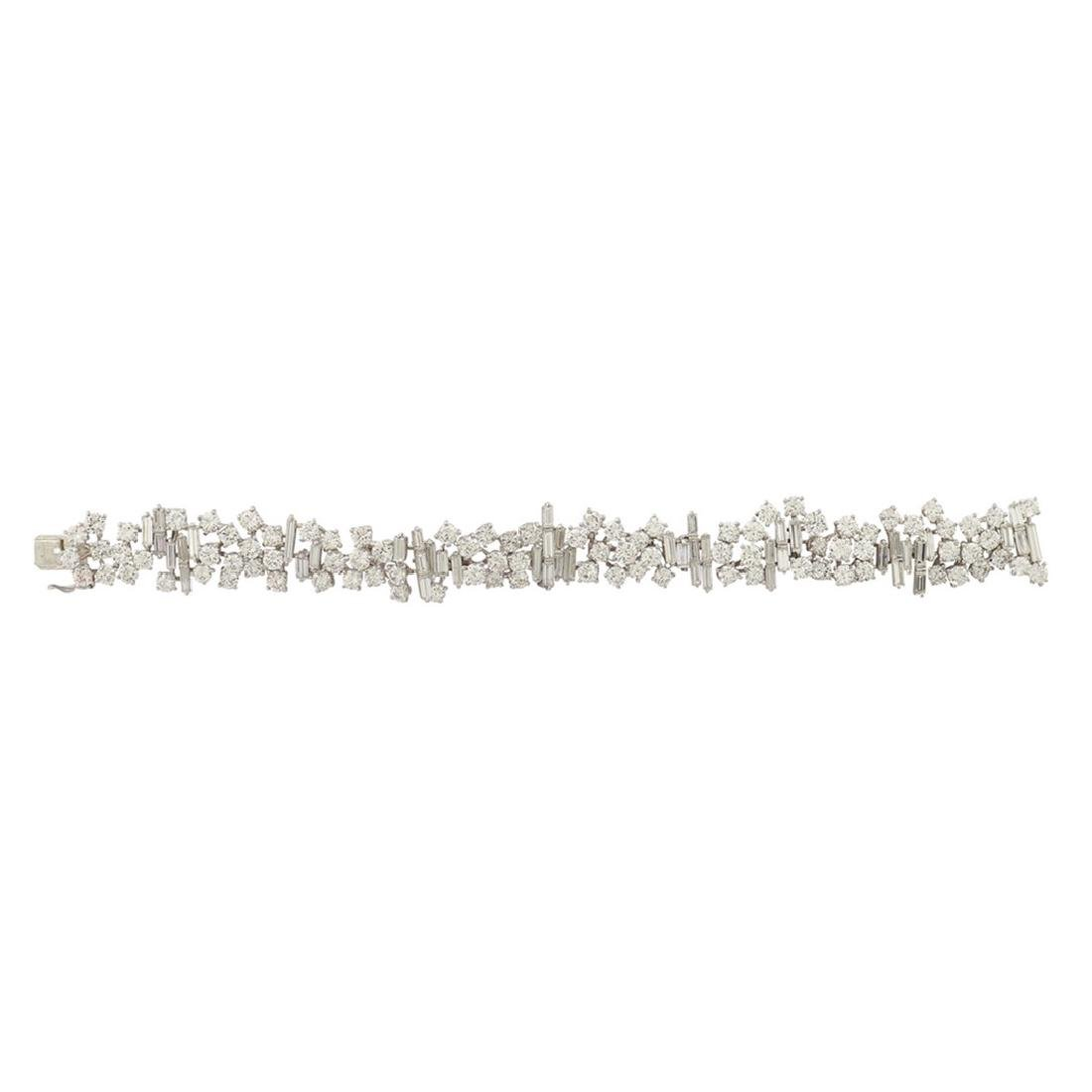 Massoni, a platinum bracelet with diamonds signed,