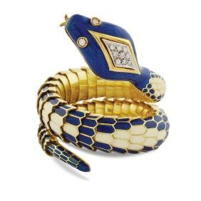 An 18kt gold  snake bracelet 1950/60s peso 123 gr.