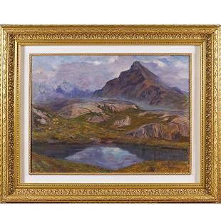 Raffaele De Grada Milan 1885 - 1957 59,5x79,5 cm.