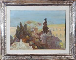 Luigi Civerchia Rome 1928 50x70 cm.