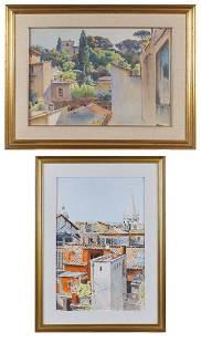 P. Marres Italy, 20th century 37x55 - 34x50 cm.