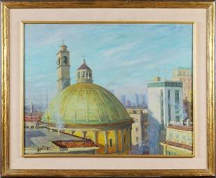 Giovan Francesco Gonzaga Milan 1921 - 2007 59,7x77 cm.
