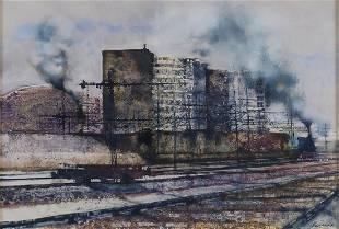 Renzo Vespignani Rome 1924 - 2001 35x50 cm.