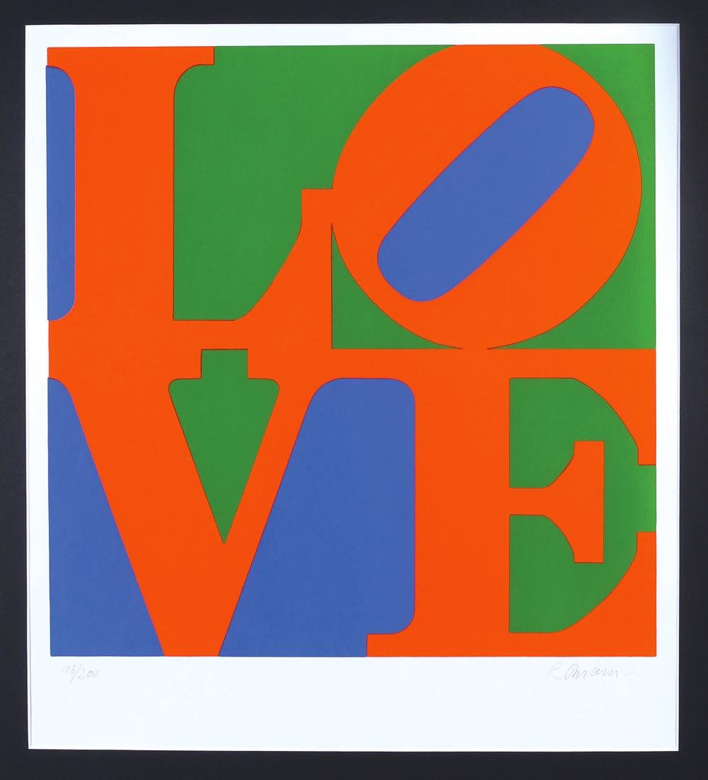 Robert Indiana New Castle - USA 1928 61x61 cm.