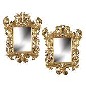 A pair of Italian giltwood mirrors Rome 19th century