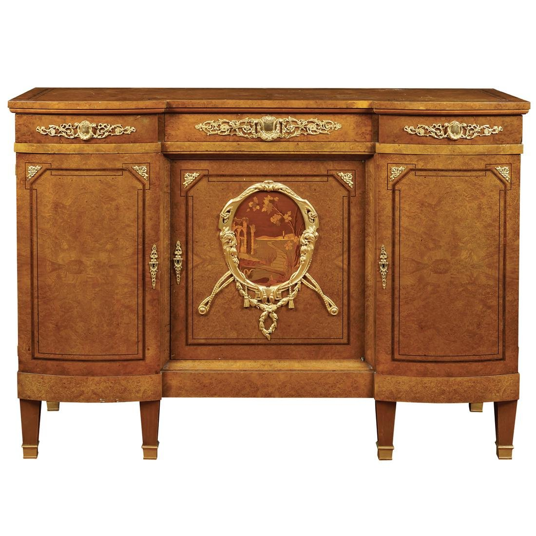 tuia root wood sideboard france late 19th early 20th