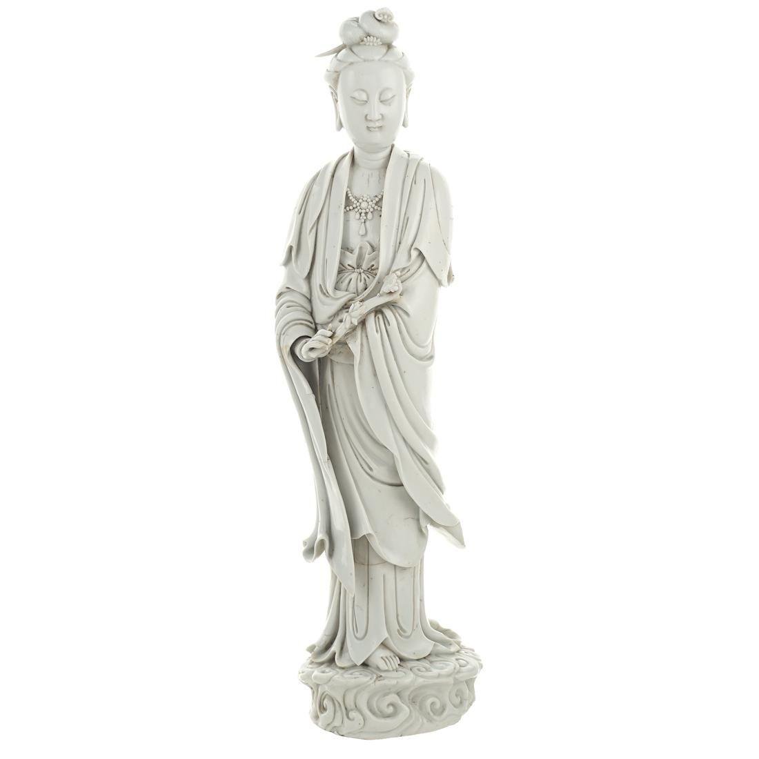A blanc de China sculpture China, 19th century h. 52