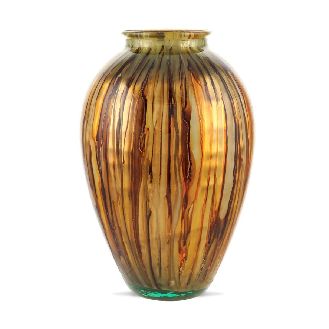 Decorative glass vase 20th century h. 43 cm.