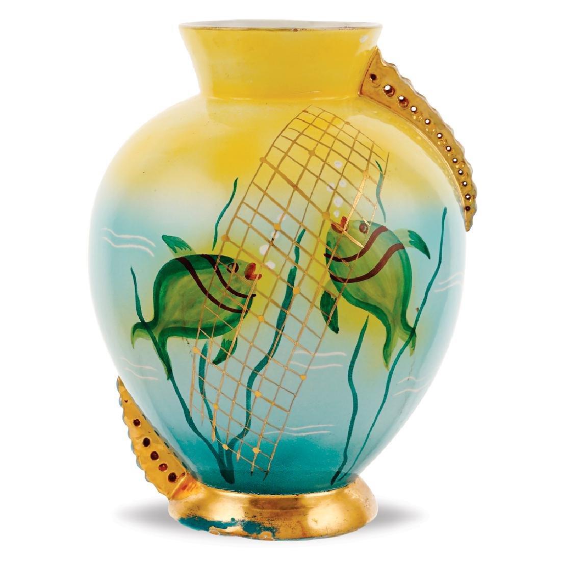 A ceramic vase Gualdo Tadino 20th century 29x11.5 cm.