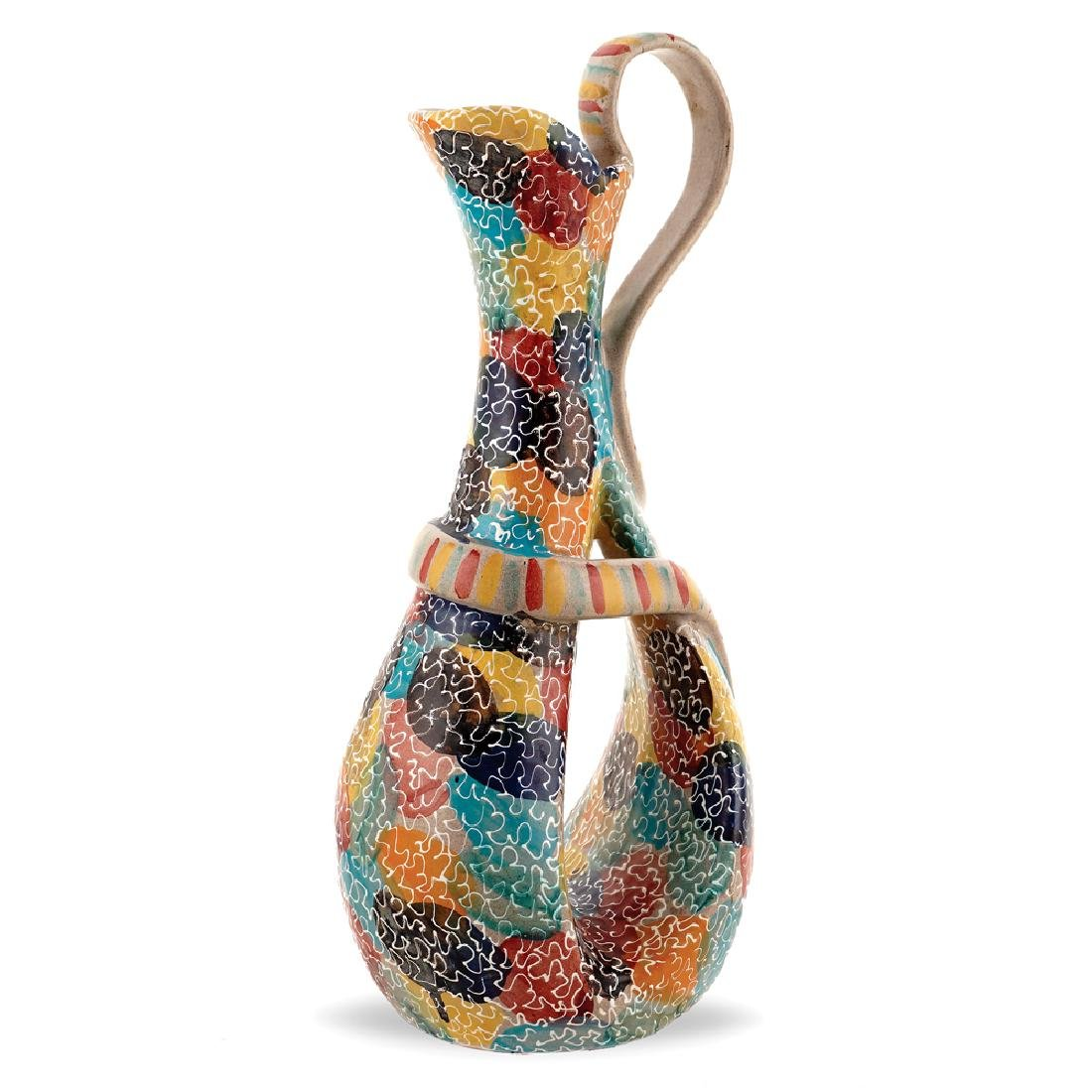 An earthenware jug Italy 20th century h. 40 cm.