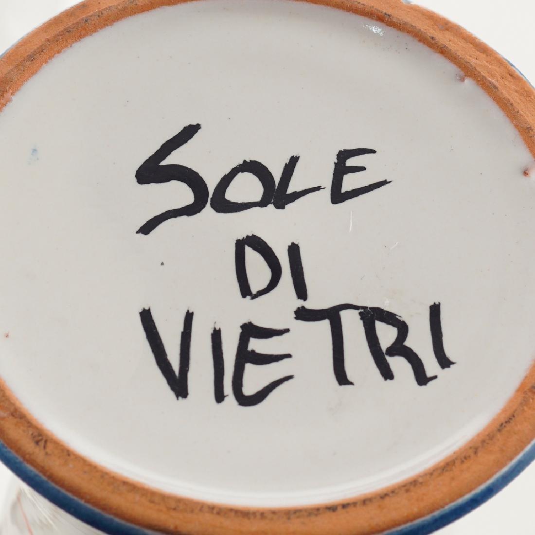 Glazed ceramic vase Vietri 20th century h. 39 cm. - 2