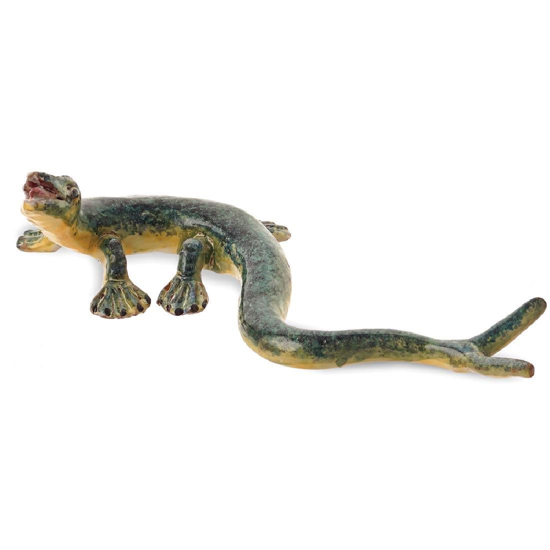 A ceramic salamander Italy 20th century 30x20 cm.