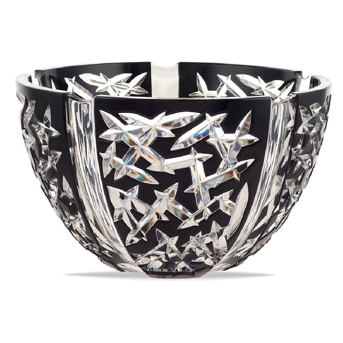 Faberge' crystal bowl Switzerland 20th century d. 26 5