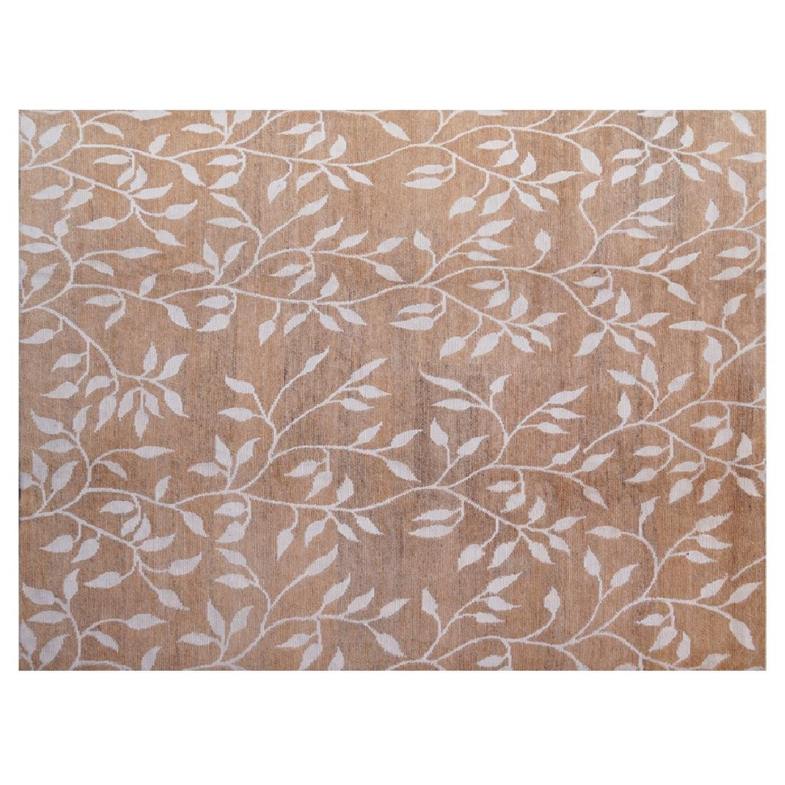 Hand knotted decorative wool and silk Carpet Nepal 20th