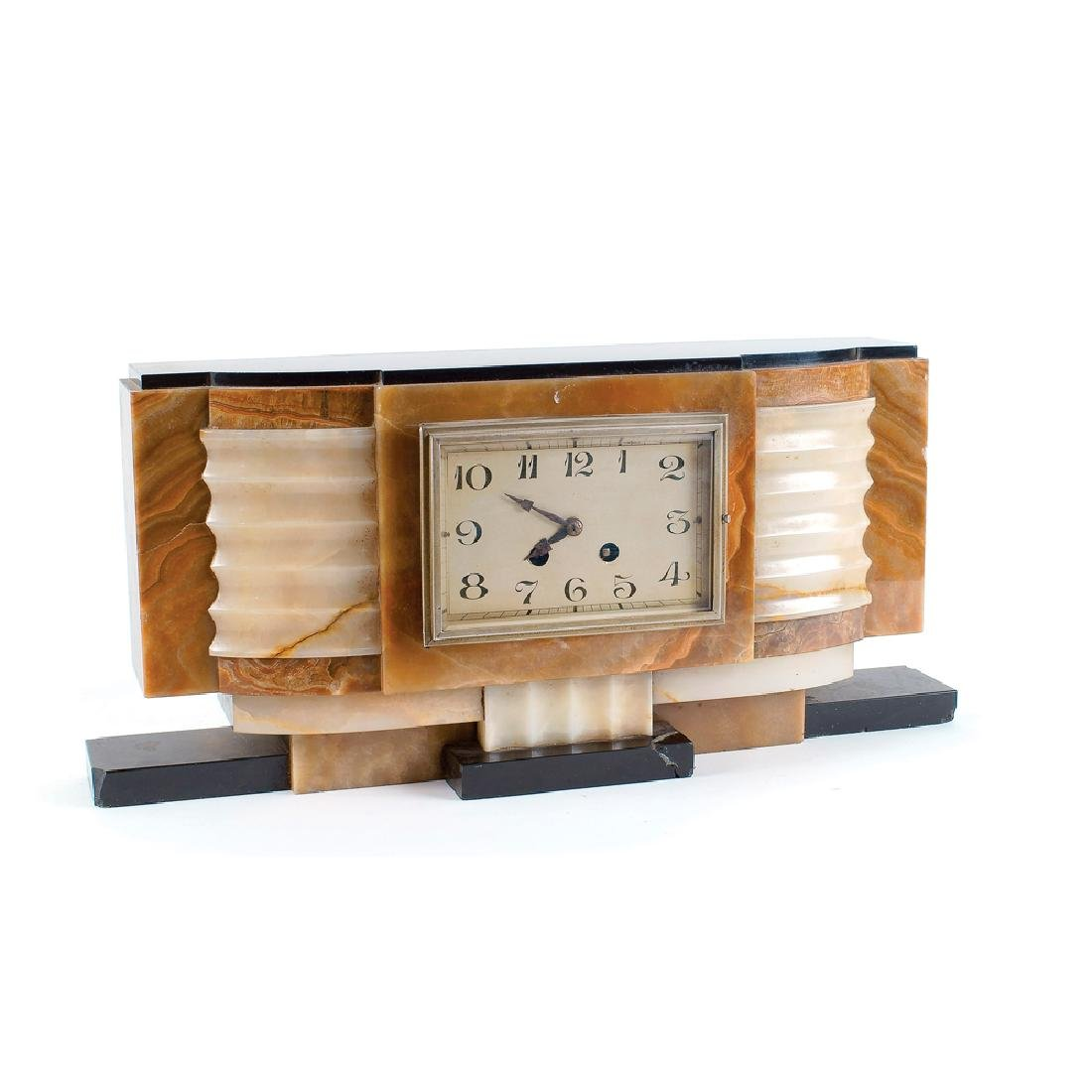 Art Decò table clock France 20th century 22x48x9 cm.
