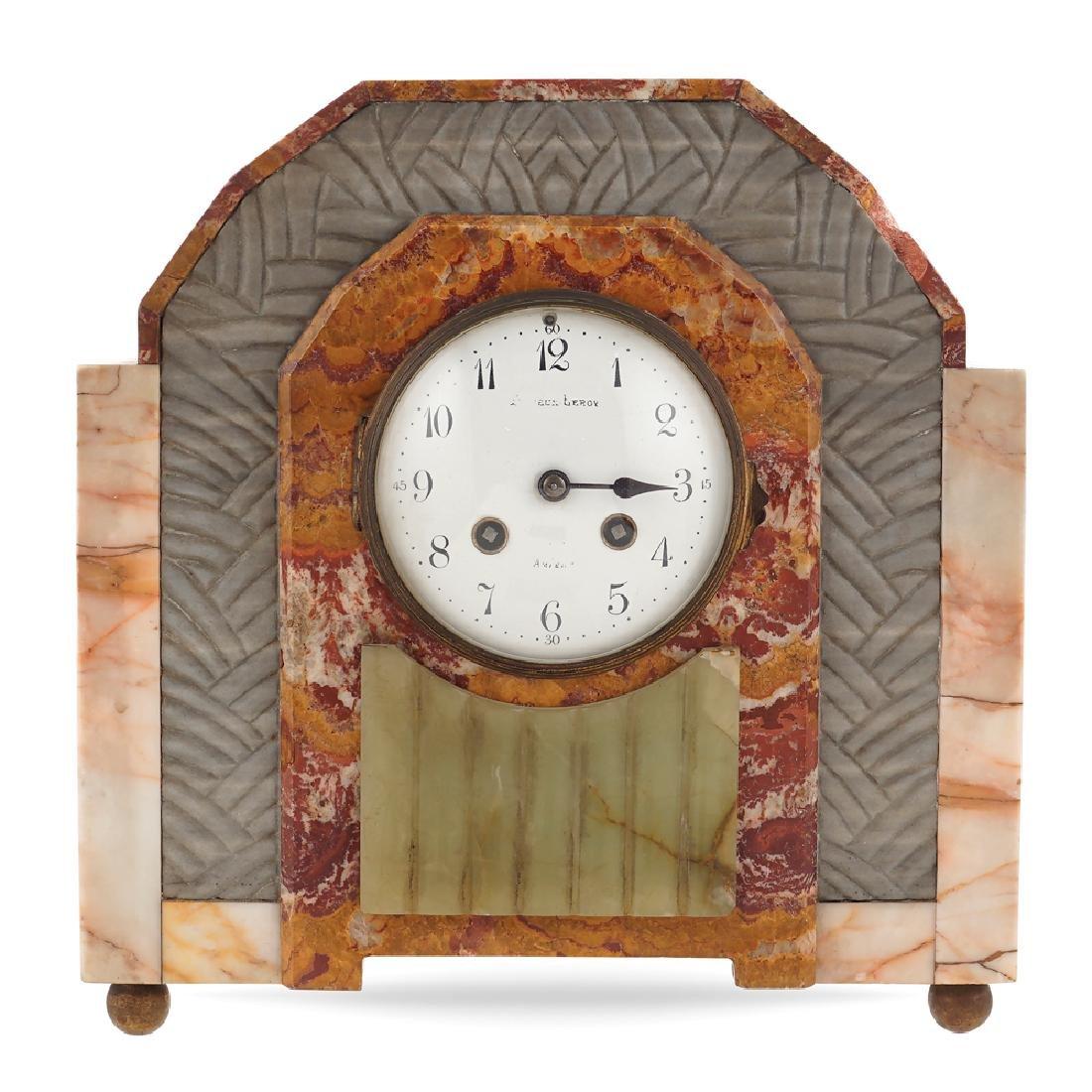 A Decò table clock France 20th century 29x27x10.5 cm.