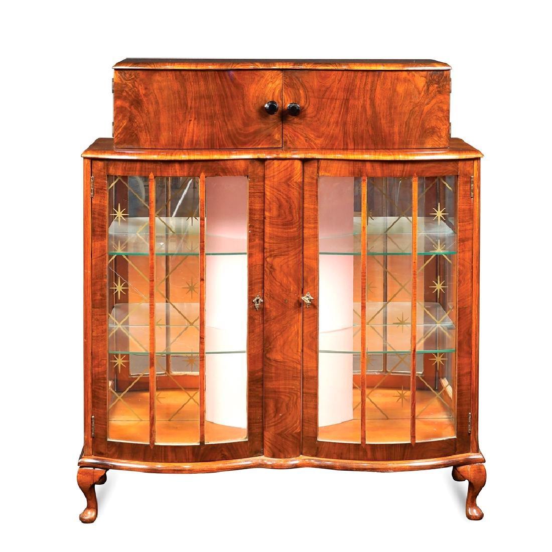 Walnut Art Decò bar cabinet France 20th century 177