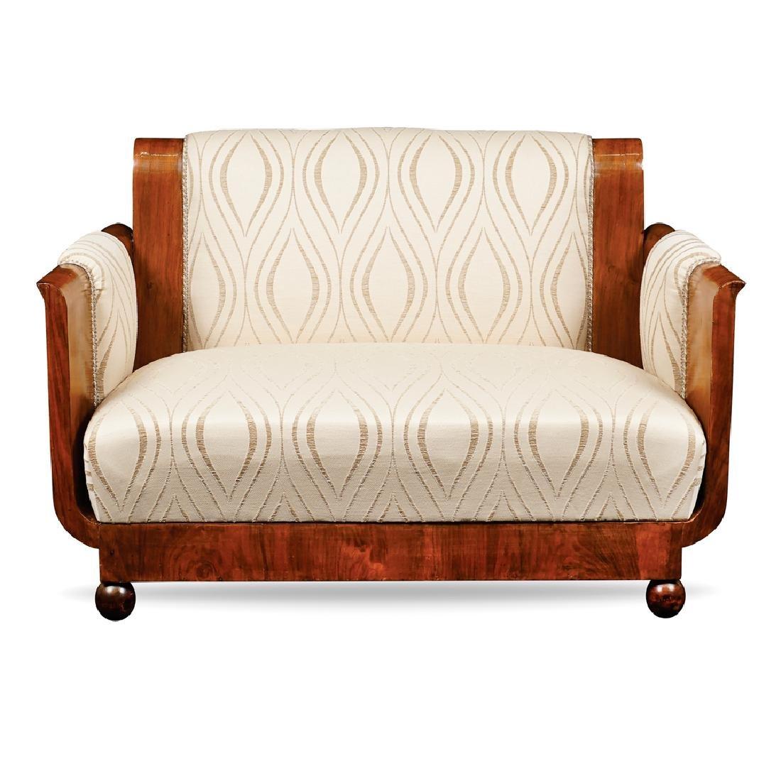 A Decò sofa France early 20th century 76x110x69 cm.