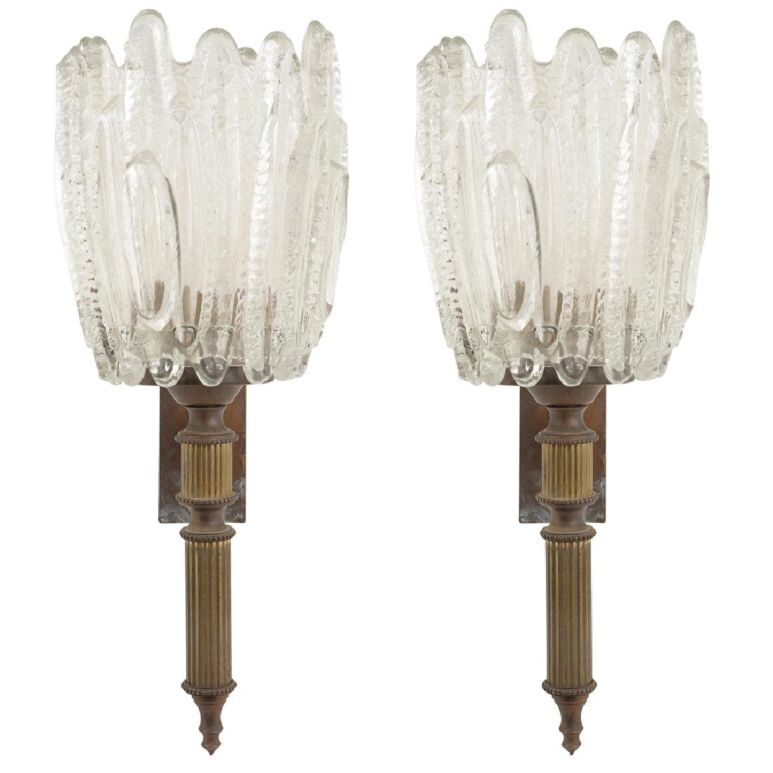 Pair of appliques France 20th century 30x15 cm.