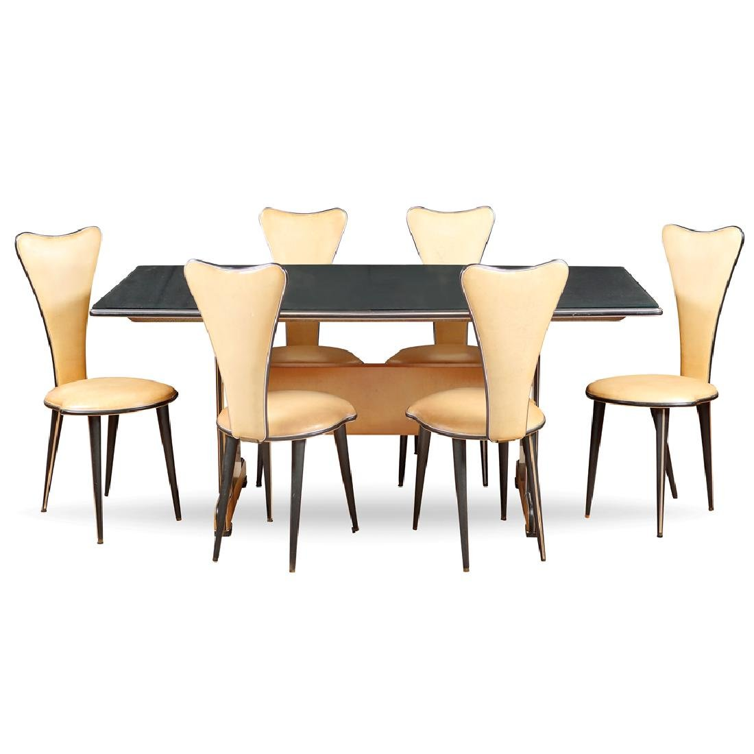 Table with six chairs Italy 1940ies