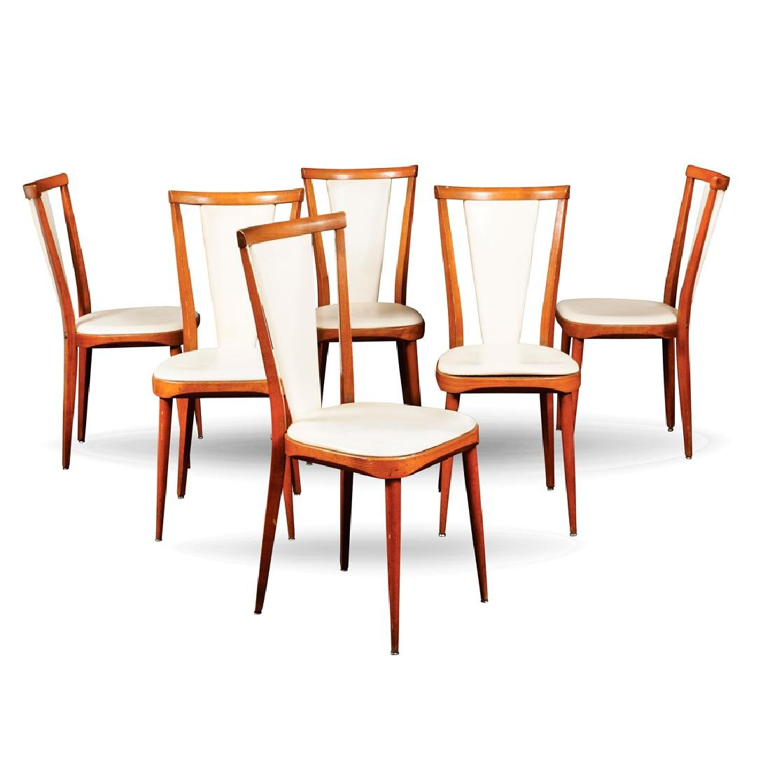 Set of six chairs France 20th century h. 92 cm.