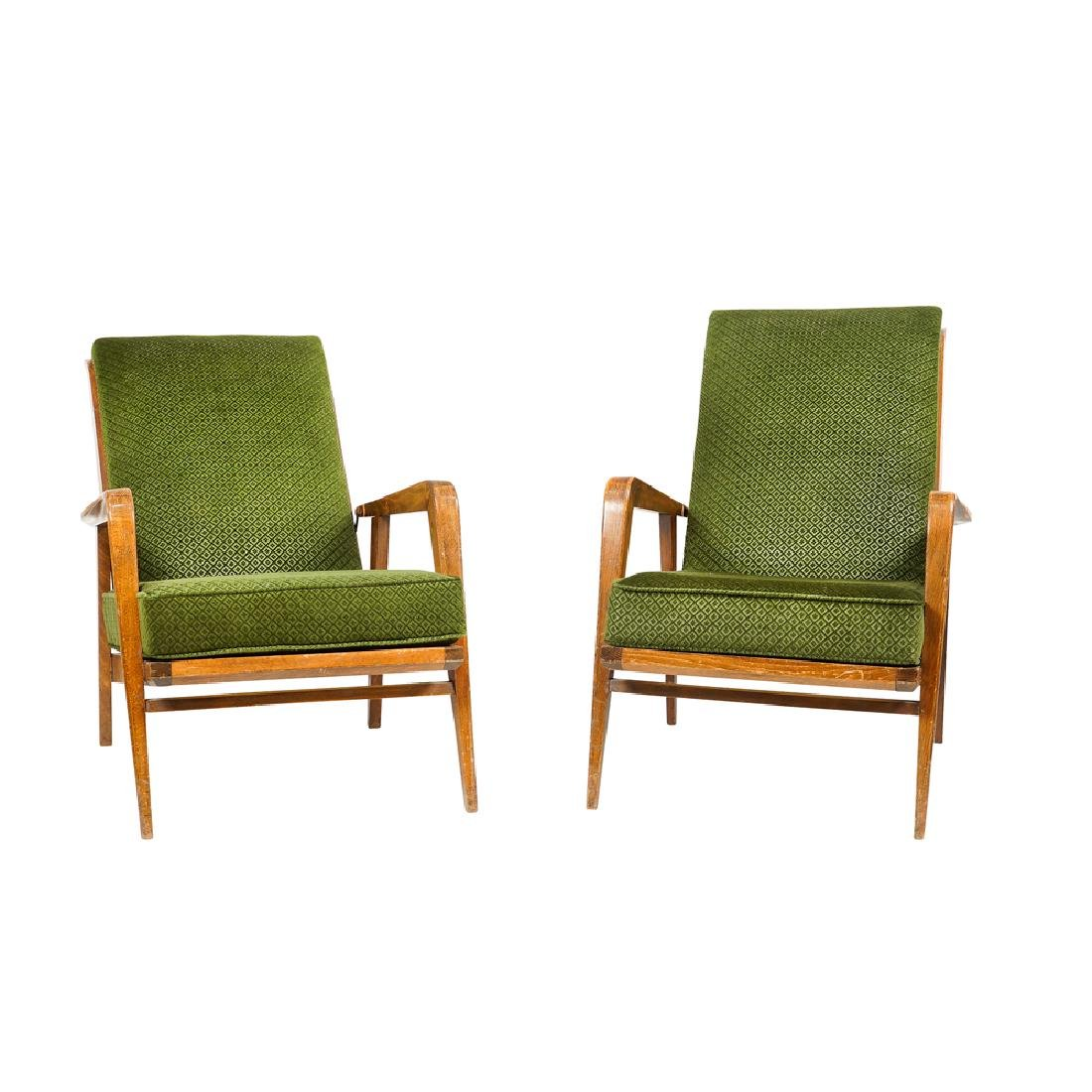 Pair of reclining armchairs Germany 20th century