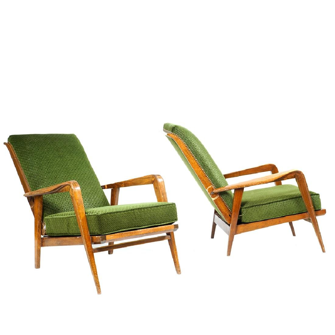 Pair of reclining armchairs Germany 20th century - 2