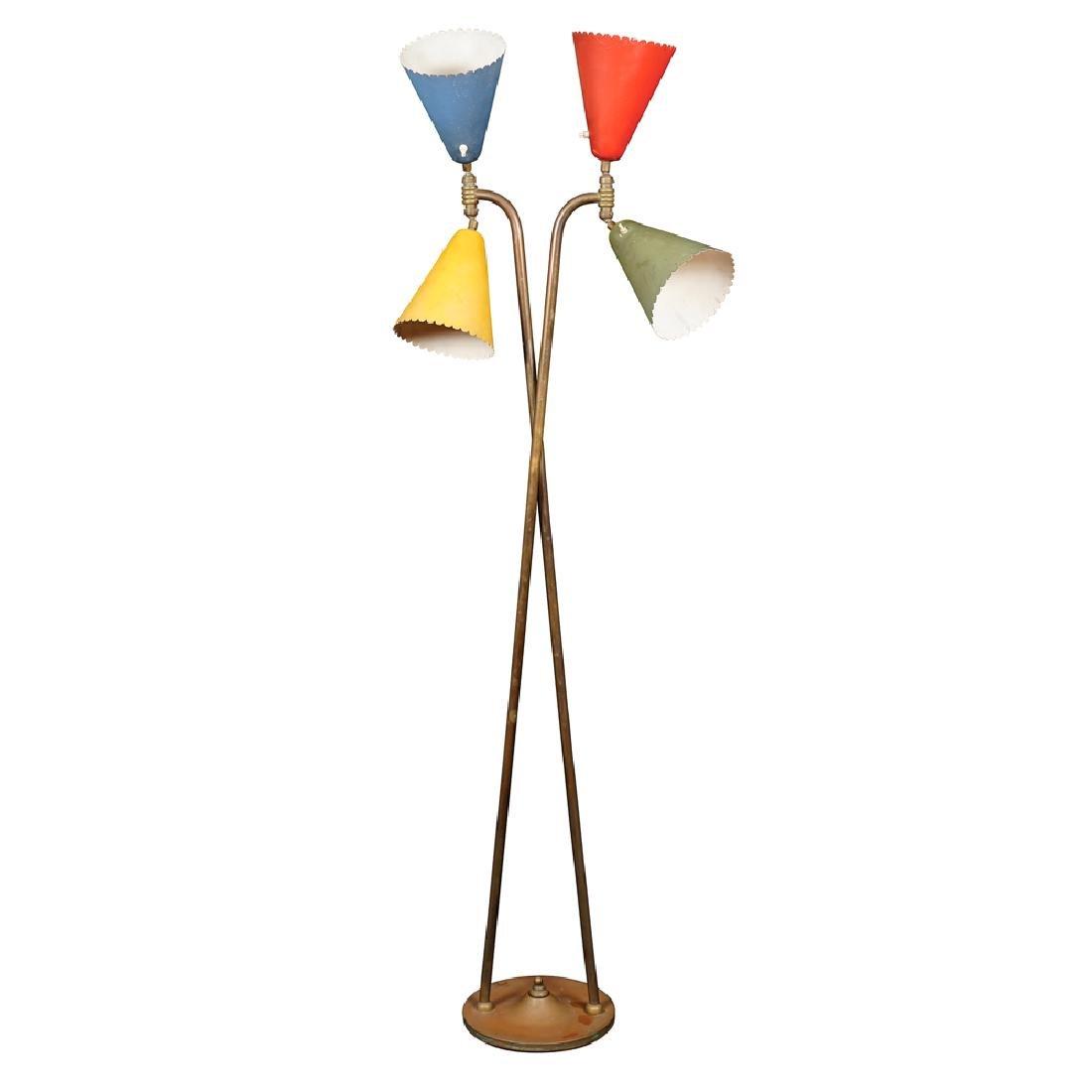 Floor lamp Stilnovo style Italy 20th century h. 182 cm.